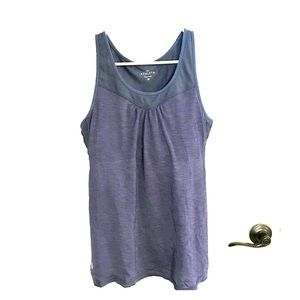 Athleta Supercharged support tank steel blue grey